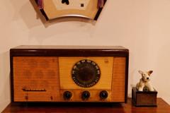 ナショナルのラジオ 上野 下町風俗資料館にて