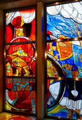 SLのステンドグラス 鉄道博物館にて