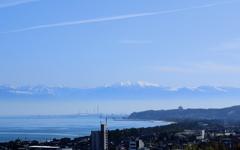 穏やかな富山湾の朝