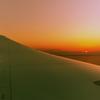 787からの夕日