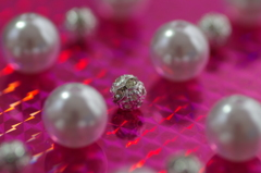 Rondel ball and Pearl beads