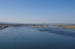春の信濃川