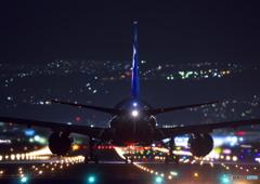 千里川の夜