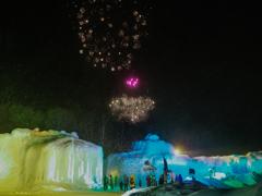 氷瀑まつり:花火