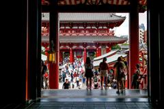 浅草寺本堂からの展望