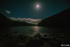 小野川湖の月光