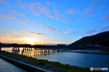 嵐山の朝日