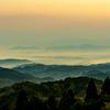 雲海と紅葉 夜明け前