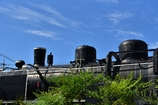 青空と機関車と夏。