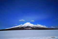 雪原の駒ヶ岳