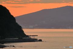 張碓の夕陽