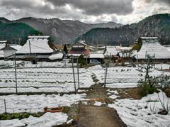 日本風景1044 冬村