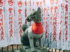 豊川稲荷霊狐塚 グルグルしっぽ