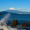 富士遠景~三保の松原より①