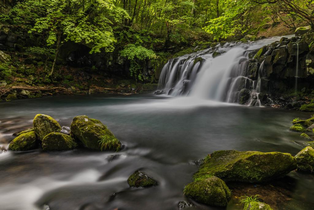 真夏の蓼科大滝1