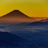 高ボッチview2017.11.03 輝く富士山