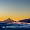 高ボッチview2017.12.09朝陽を浴びて