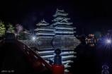 夜の松本城1