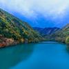 秋の横川ダム湖