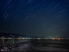 諏訪湖に降る星