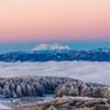 御嶽山の夜明け