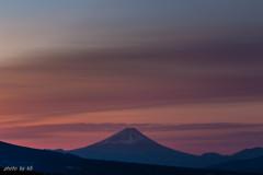 富士朝焼け