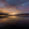 諏訪湖の夜明けやや焼け