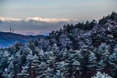 樹氷と北アルプス2