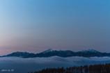 霧ヶ峰の夜明けー南アルプス