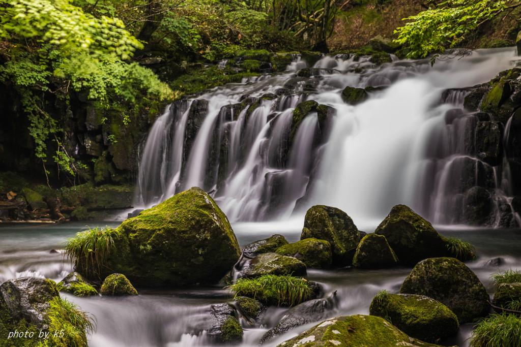 真夏の蓼科大滝2
