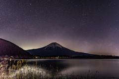 夜の田貫湖2