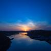 賢島大橋の夕日