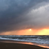 内灘海岸 初冬の夕焼け