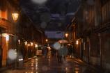 雪舞う東山