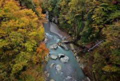 手取峡谷の秋