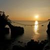 機具岩の夕景