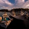 港の夕暮れ2
