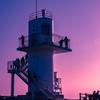 灯台の黄昏