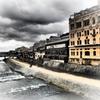 冬空と鴨川