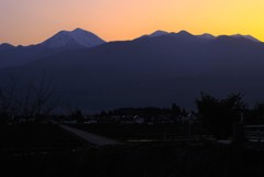 癒やしの夕景~安曇野~