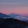 しずくpink 美ヶ原からの富士