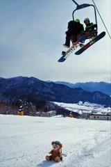 あれ!?君もスキーできるの???
