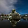 月明かりの松本城