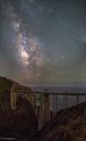 Bixby Bridgeからの天の川