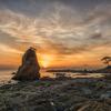 奇岩と富士