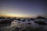 ビーチの夜明け
