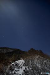 星煌めく雪山