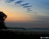 秋朝の情景