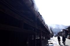 雪解け・白川郷