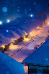 雪の降る宿